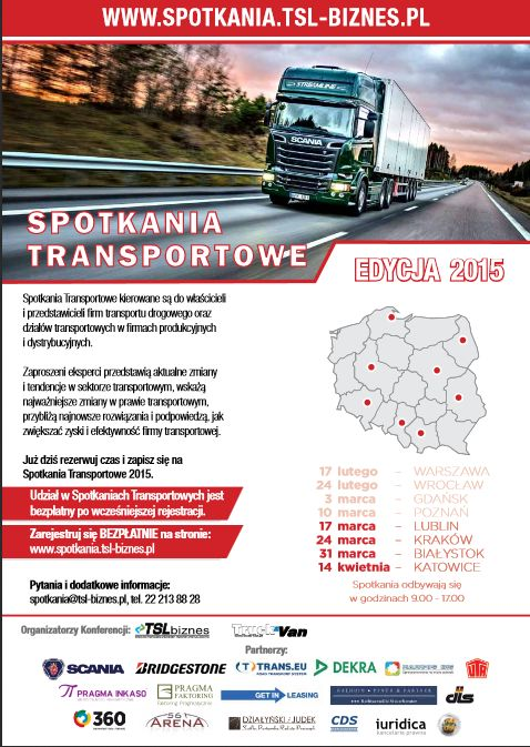 promocja na spotkania transportowe 2015